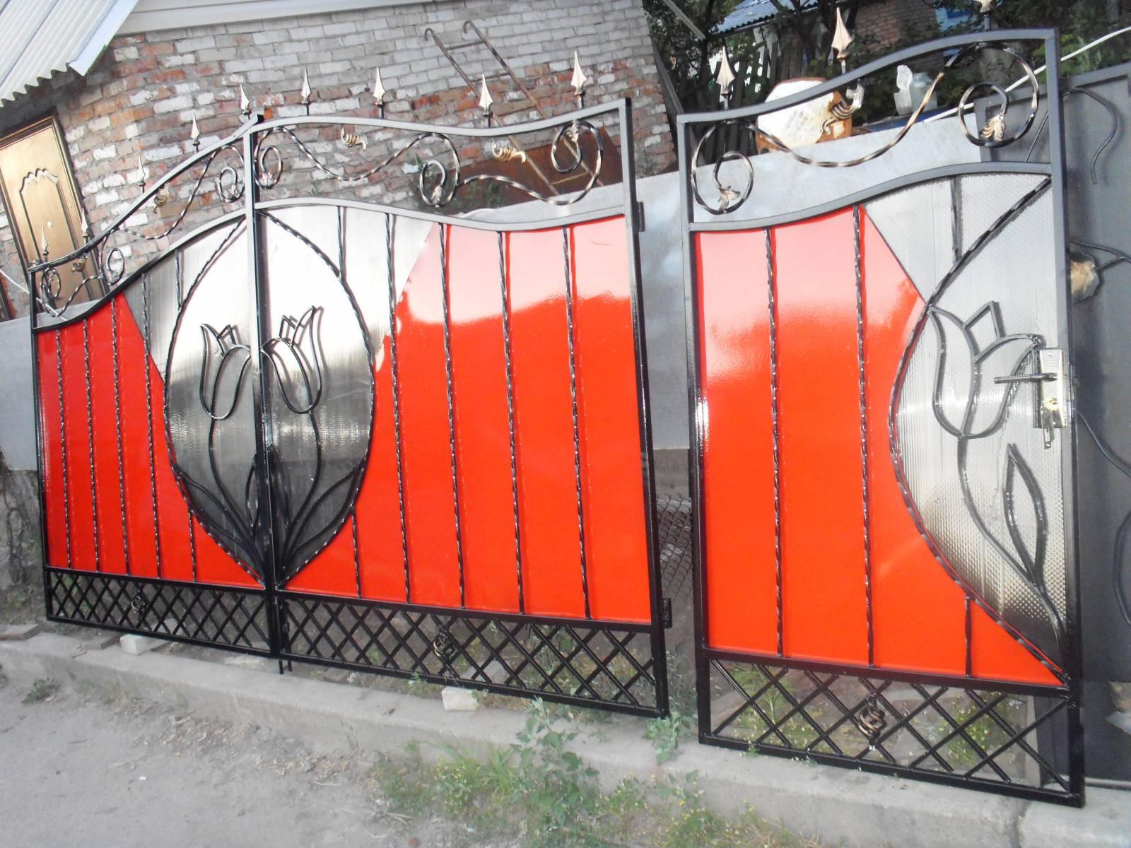 Кованые заборы с поликарбонатом своими руками 43
